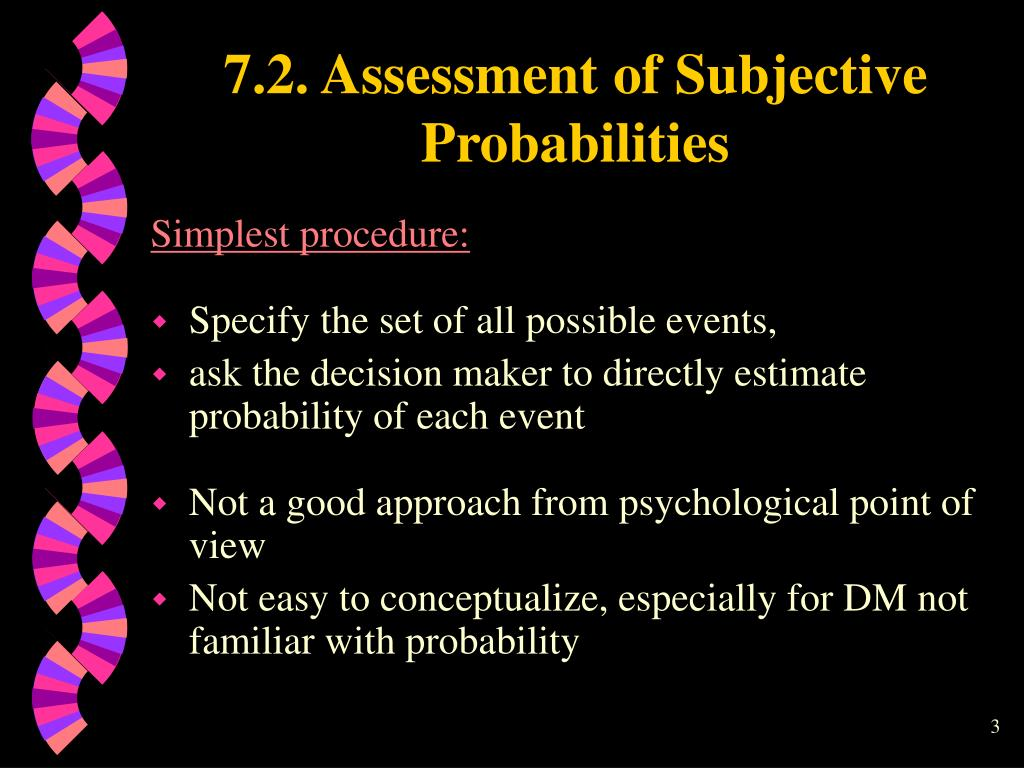 7.2. Assessment of Subjective Probabilities