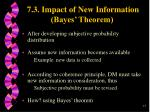 7 3 impact of new information bayes theorem