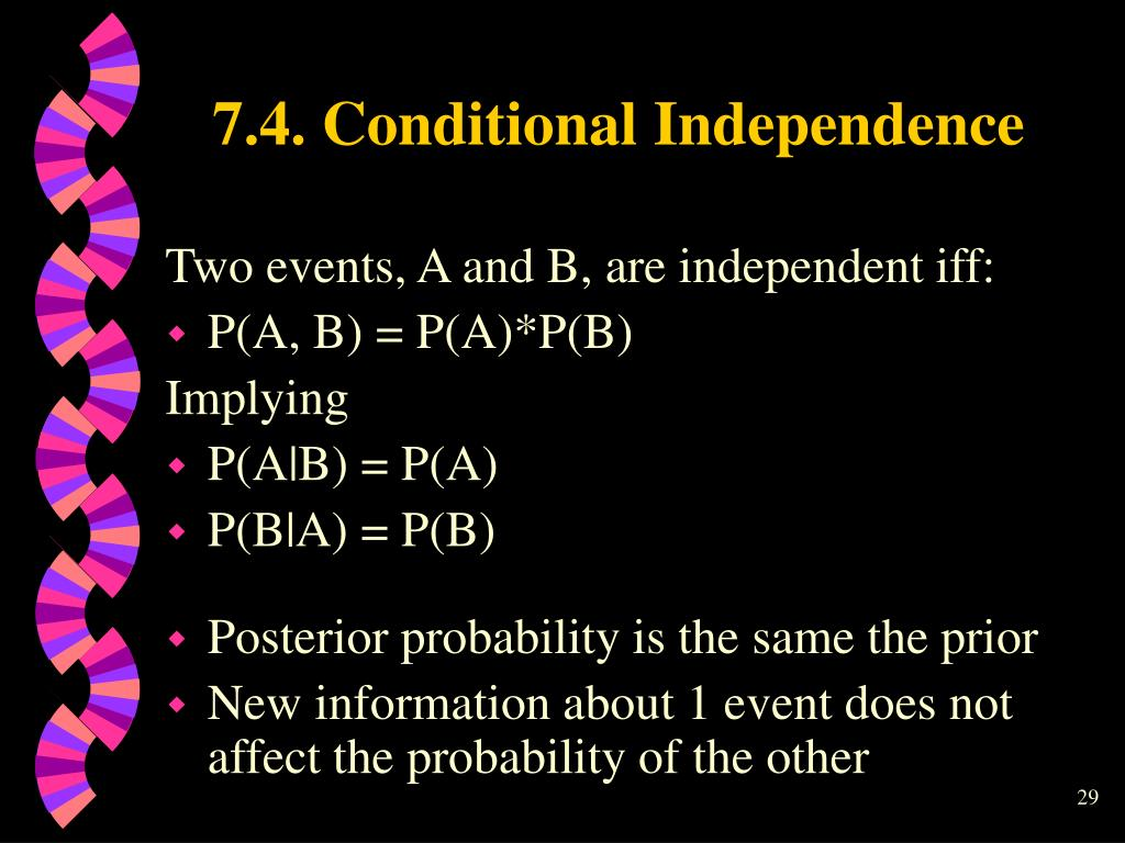 7.4. Conditional Independence