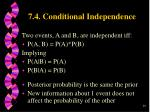 7 4 conditional independence