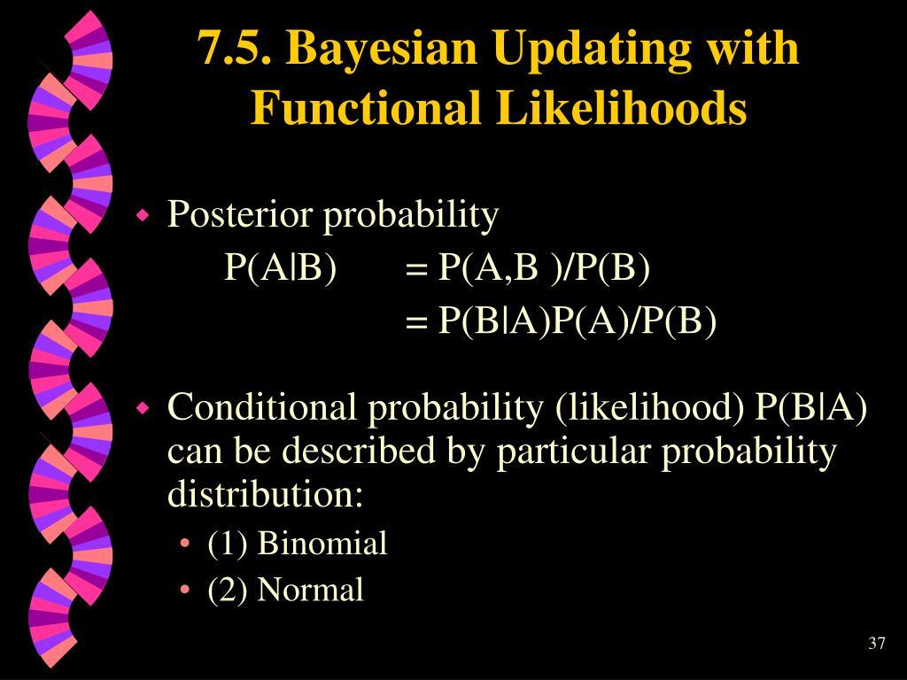 7.5. Bayesian Updating with Functional Likelihoods
