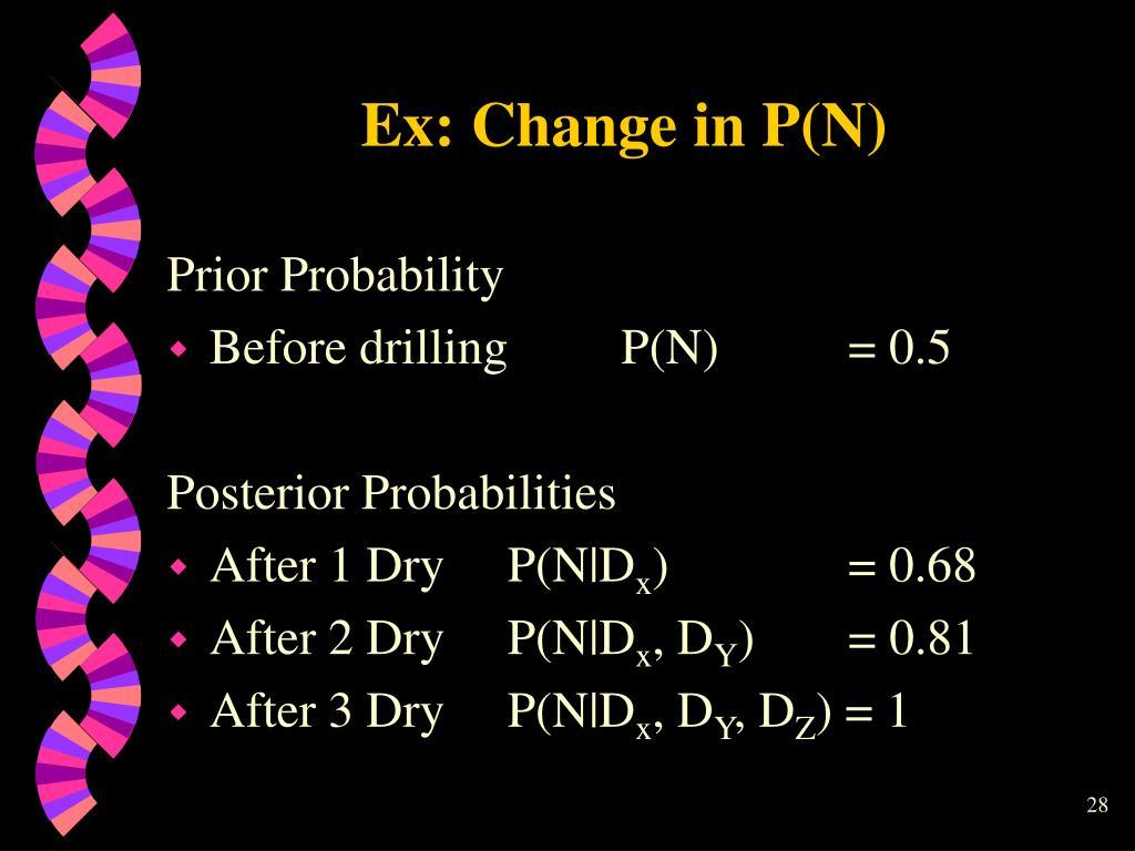 Ex: Change in P(N)