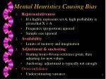 mental heuristics causing bias