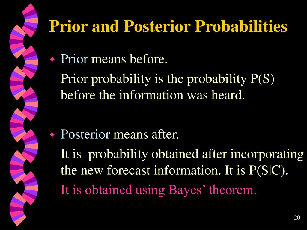 Prior and Posterior Probabilities