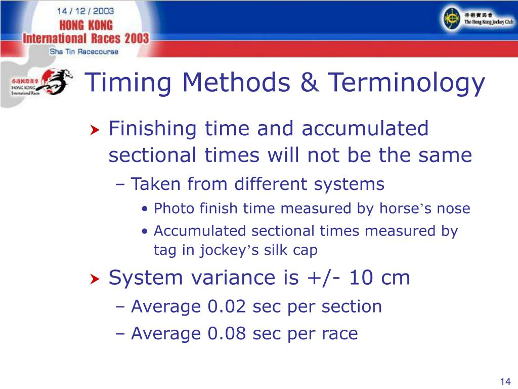 Timing Methods & Terminology