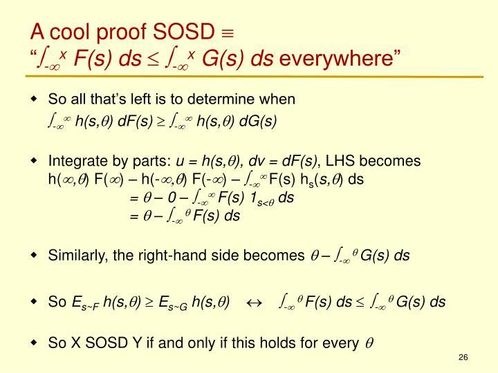 A cool proof SOSD