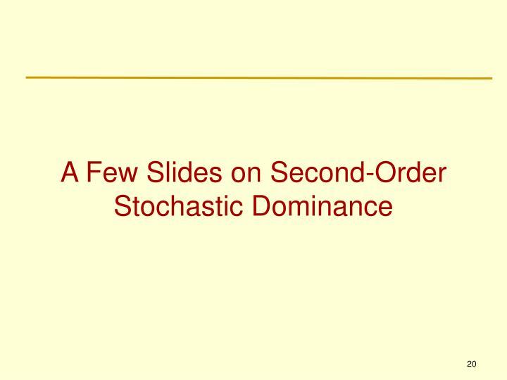A Few Slides on Second-Order