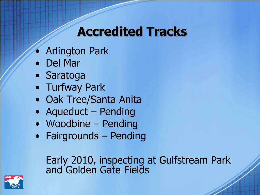 Accredited Tracks