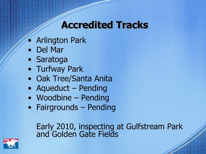 Accredited tracks3