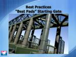 best practices best pads starting gate