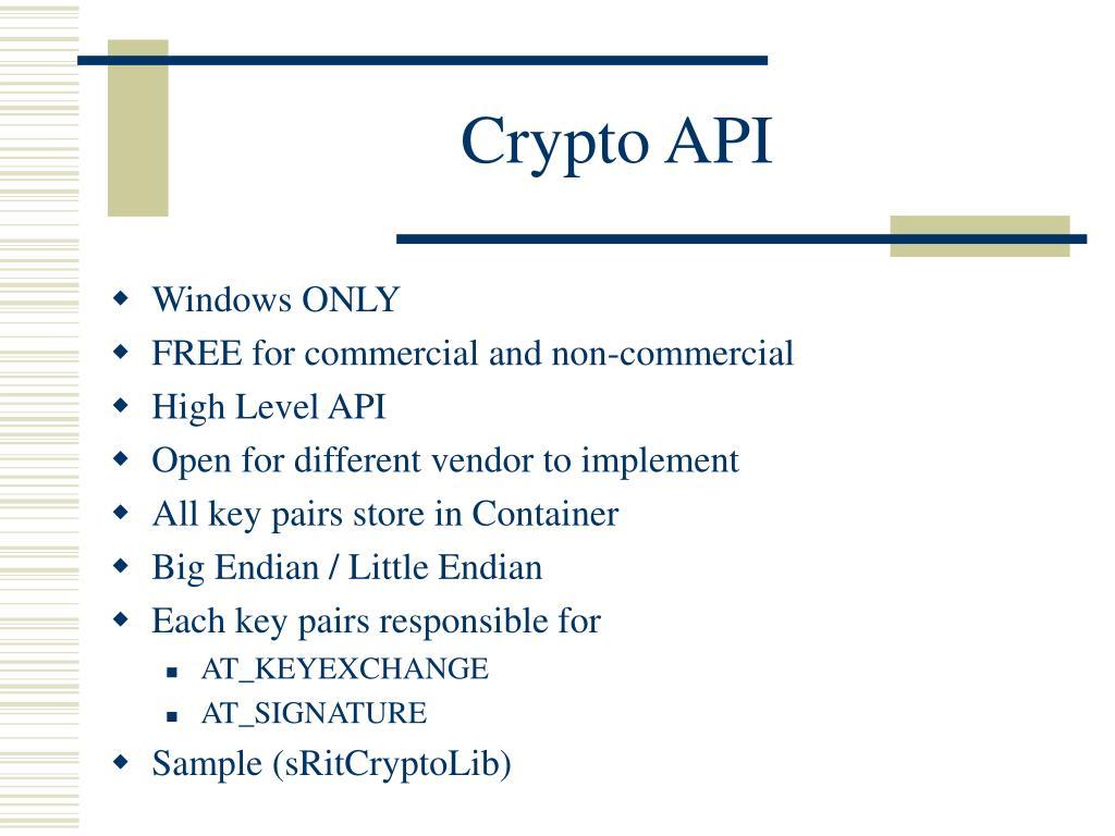 Crypto API
