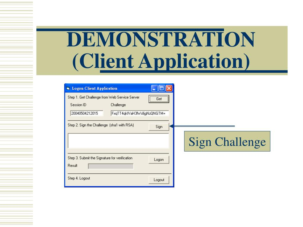 DEMONSTRATION (Client Application)