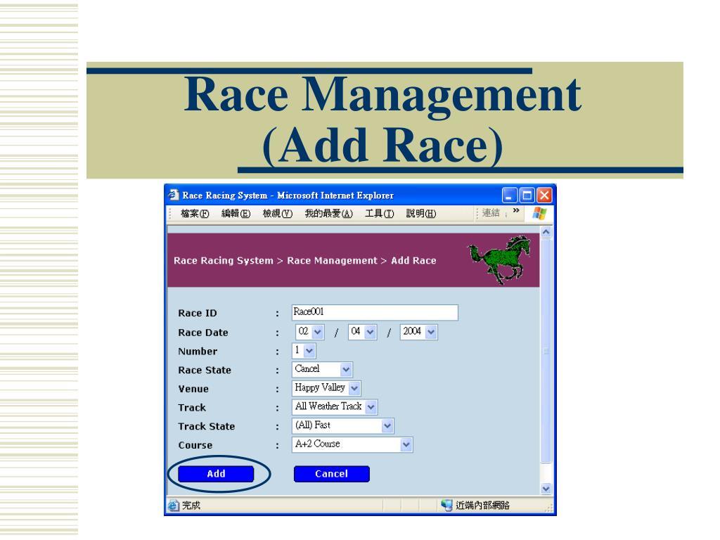 Race Management