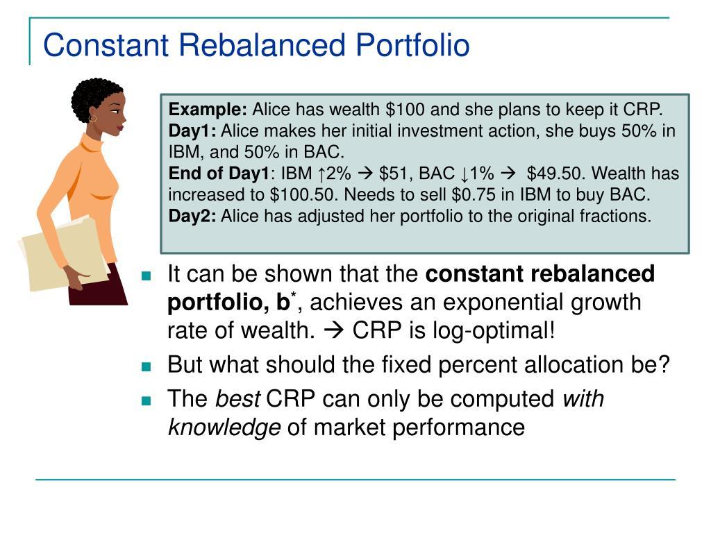 Constant Rebalanced Portfolio