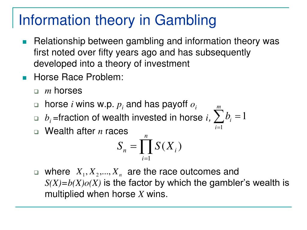 Information theory in Gambling