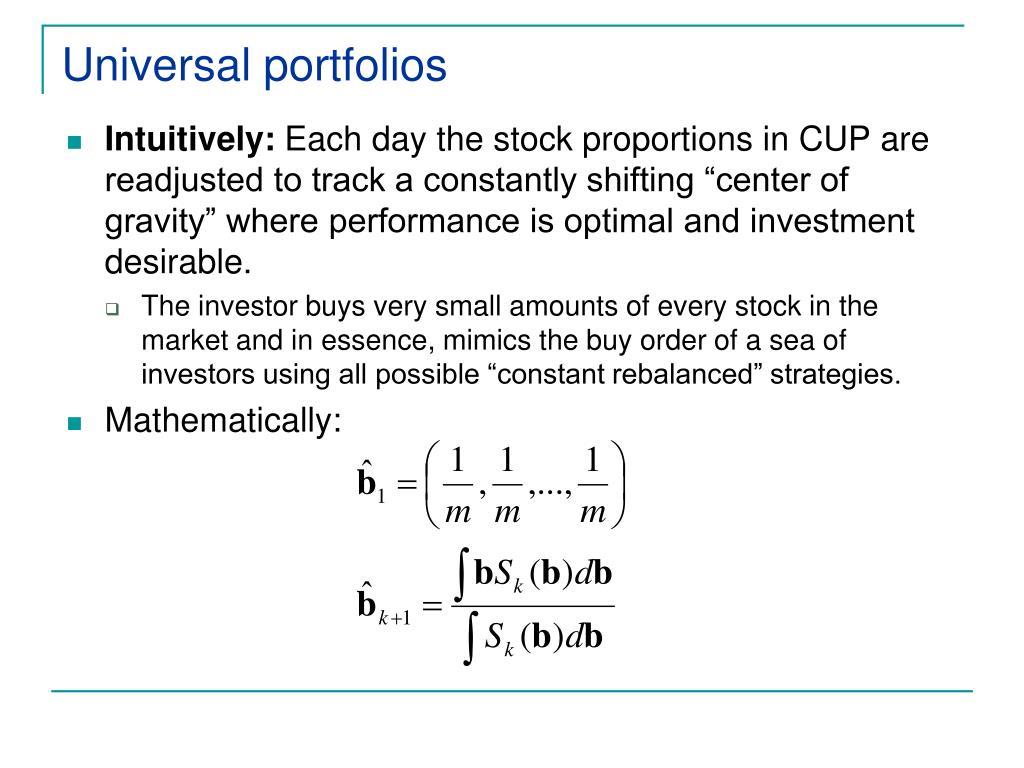 Universal portfolios