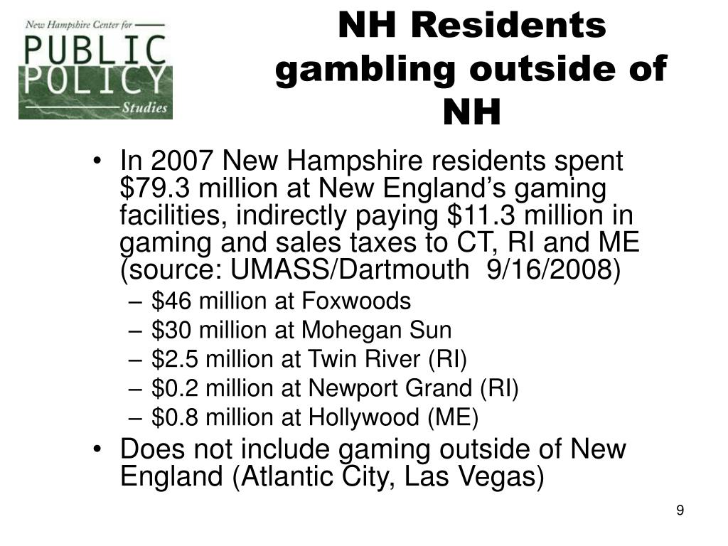 NH Residents gambling outside of NH