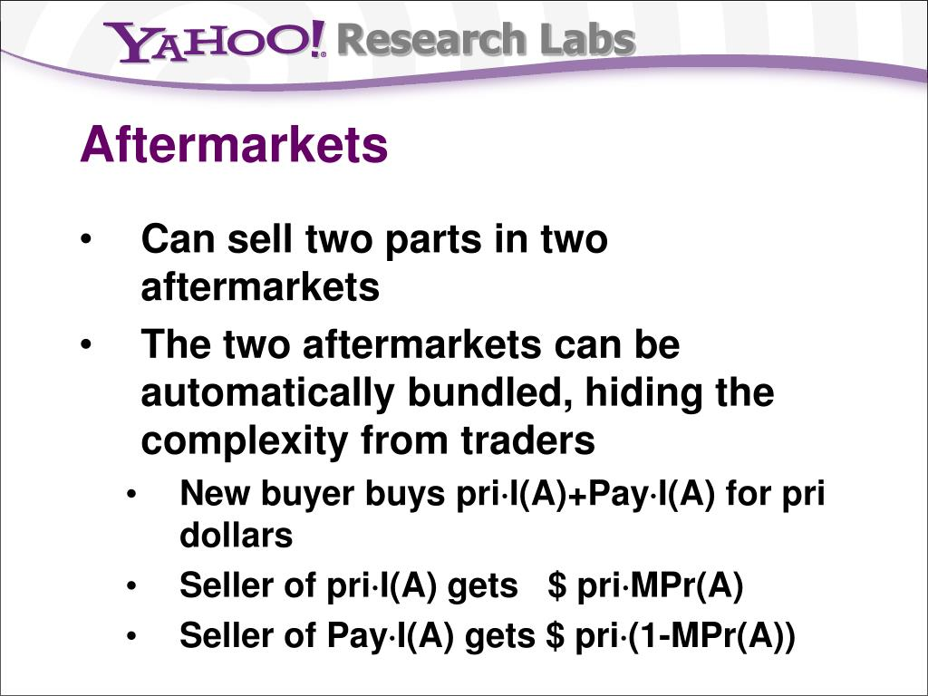 Aftermarkets