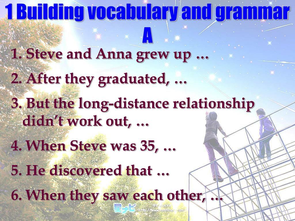 1 Building vocabulary and grammar   A