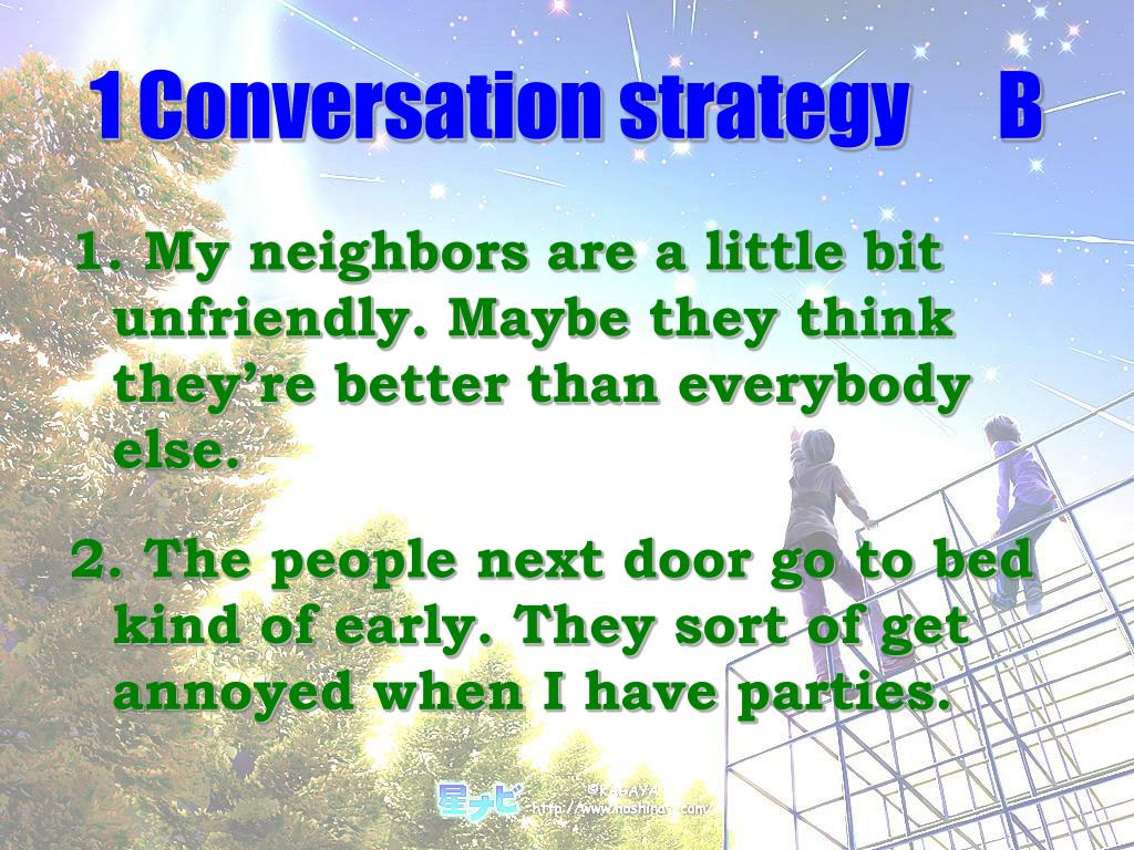 1 Conversation strategyB