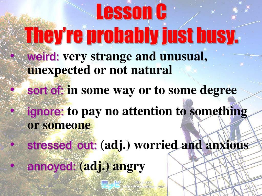 Lesson C