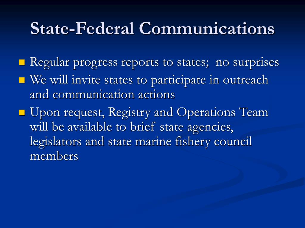 State-Federal Communications