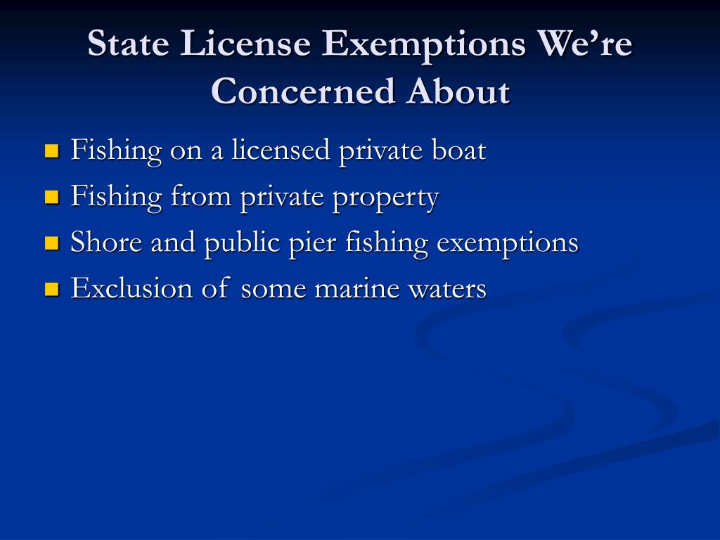 State License Exemptions We're Concerned About