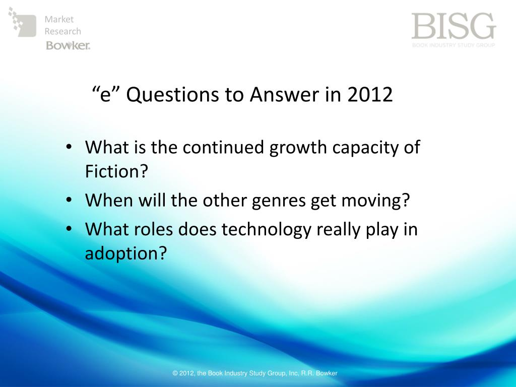 """e"" Questions to Answer in 2012"