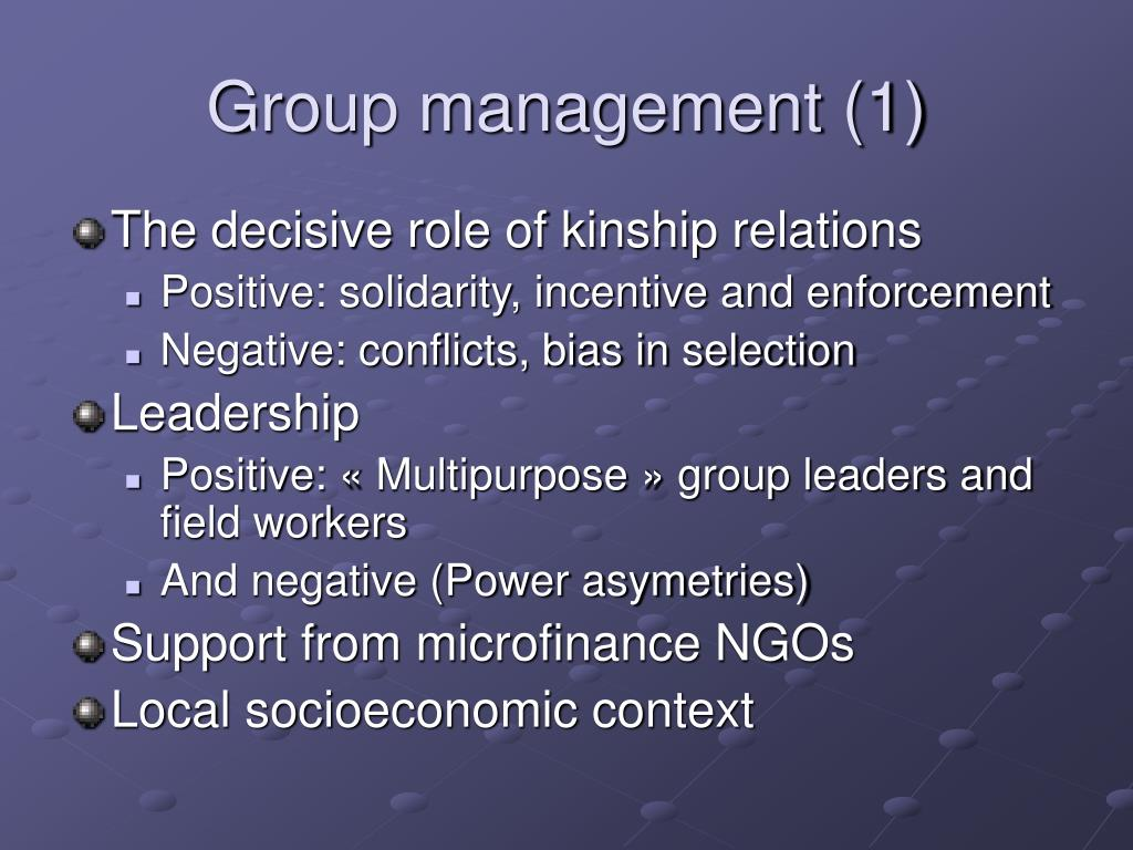 Group management (1)