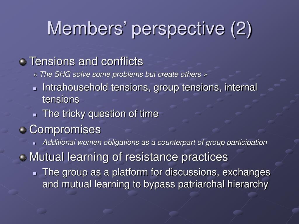 Members' perspective (2)