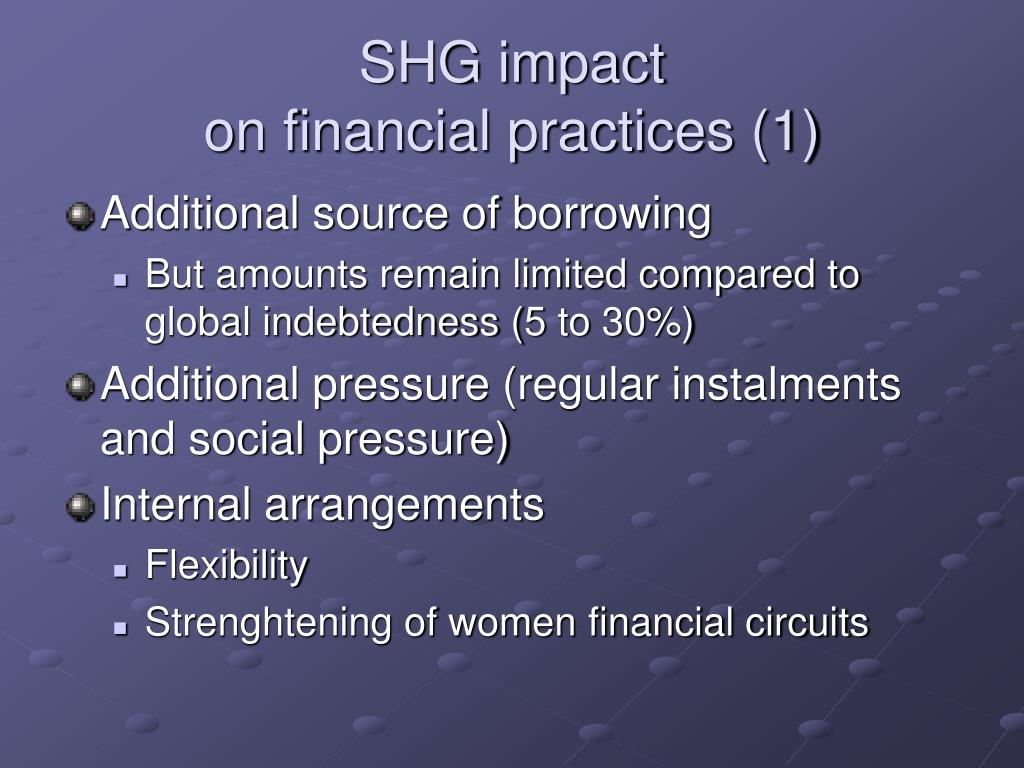 SHG impact