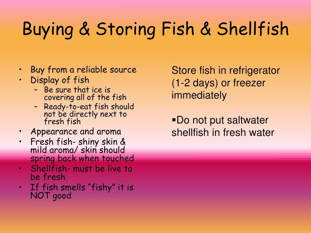 Buying & Storing Fish & Shellfish