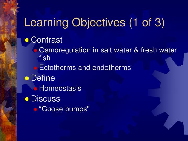 Learning objectives 1 of 3
