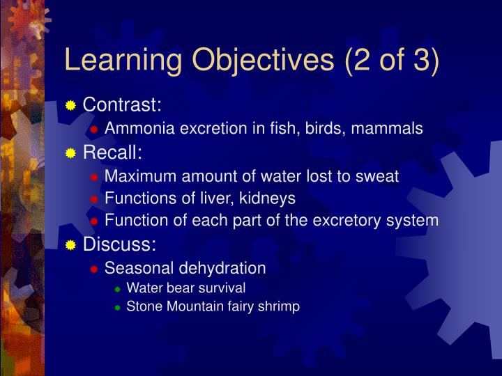 Learning objectives 2 of 3