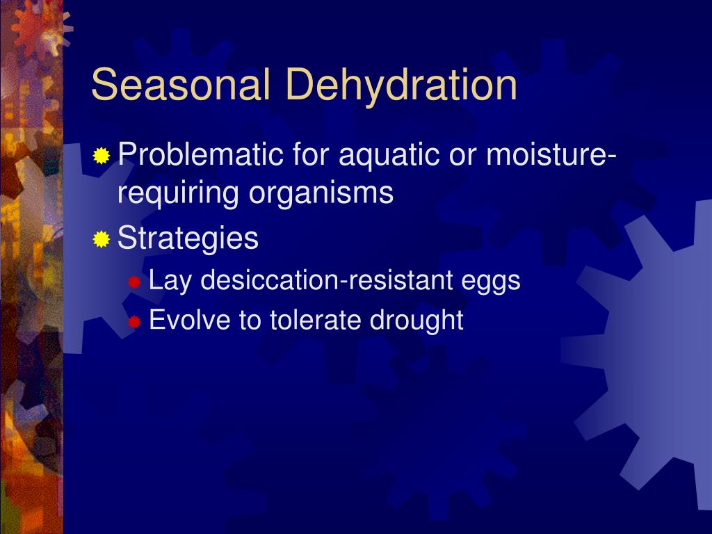 Seasonal Dehydration