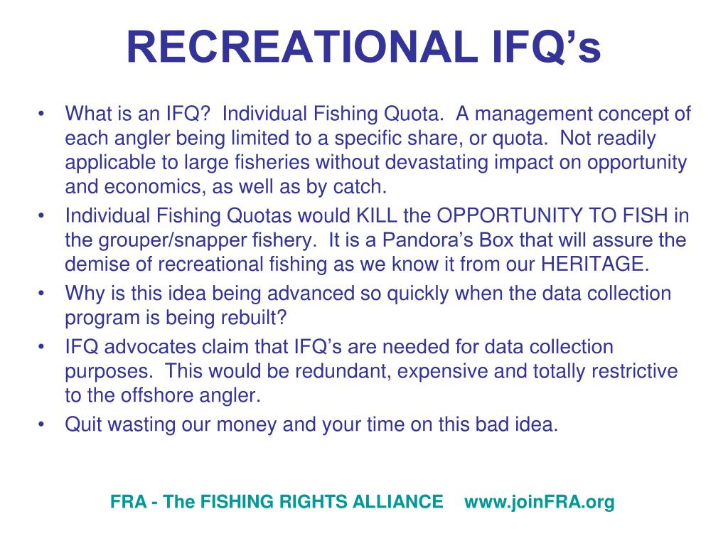 RECREATIONAL IFQ's