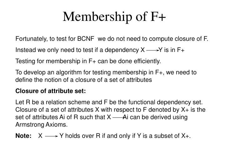 Membership of F+