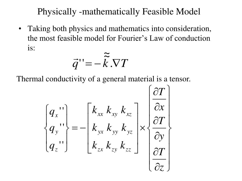 Physically -mathematically Feasible Model