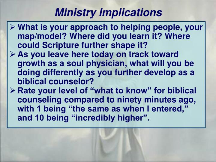 Ministry Implications