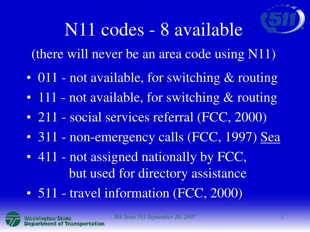 N11 codes - 8 available