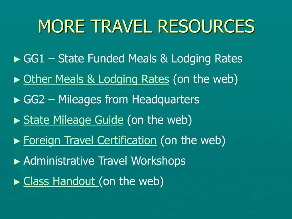 MORE TRAVEL RESOURCES