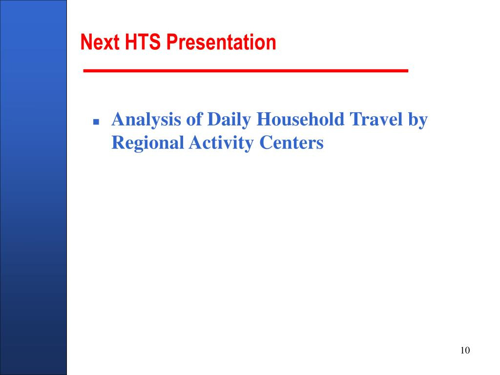Next HTS Presentation