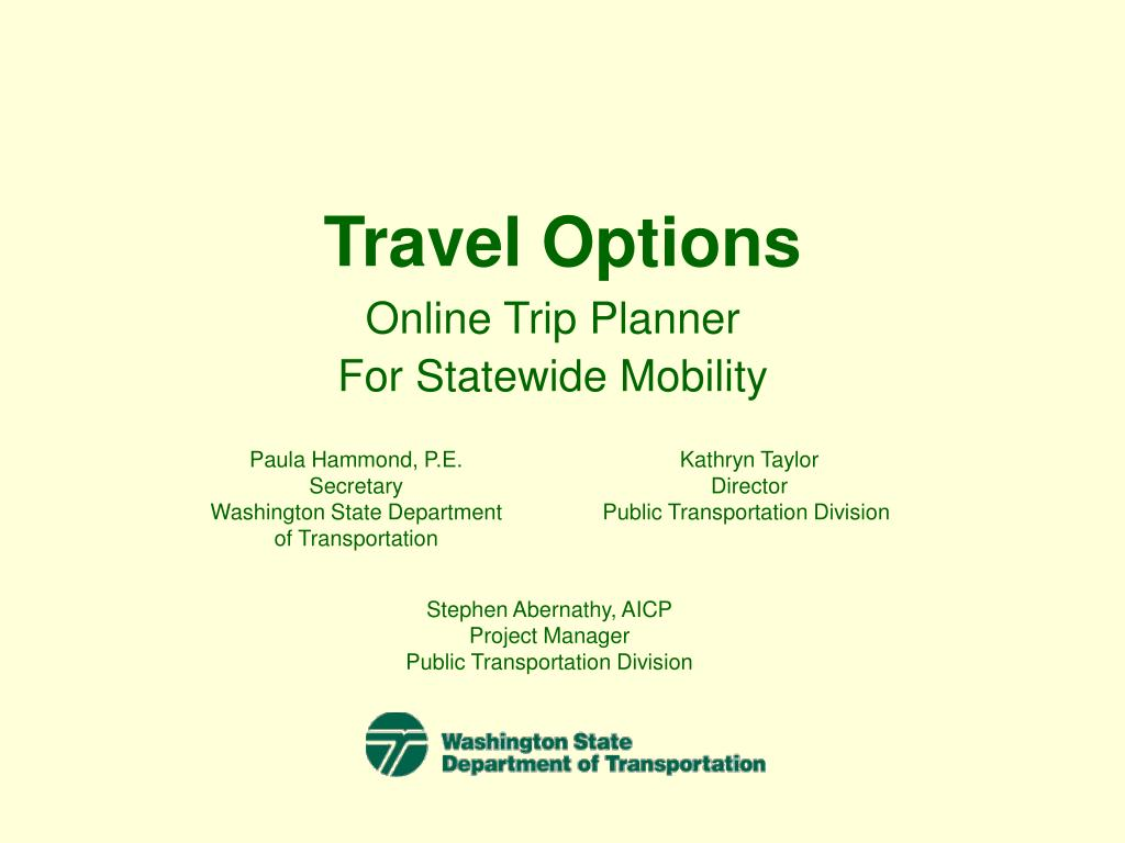 Travel Options