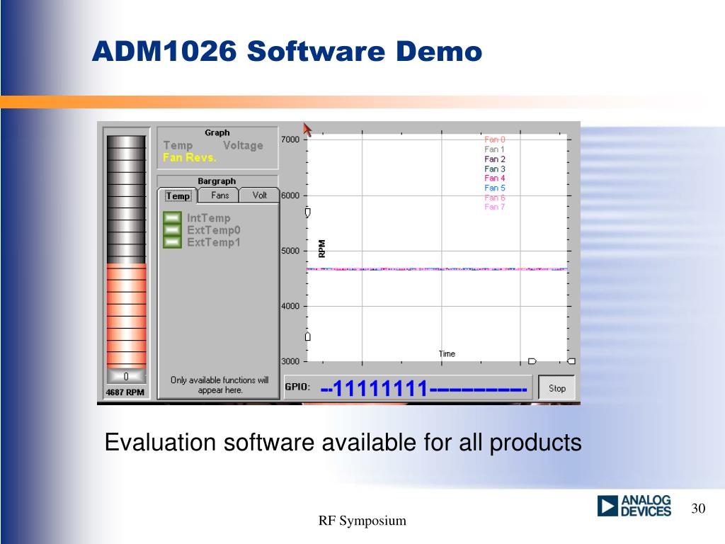 ADM1026 Software Demo