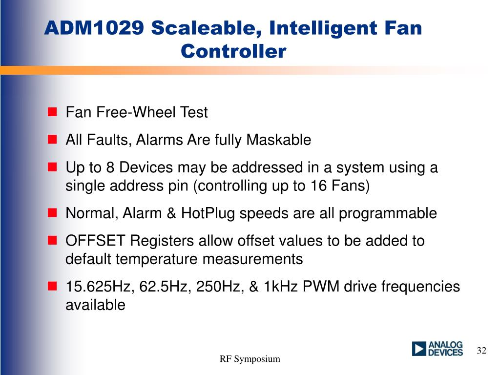ADM1029 Scaleable, Intelligent Fan Controller