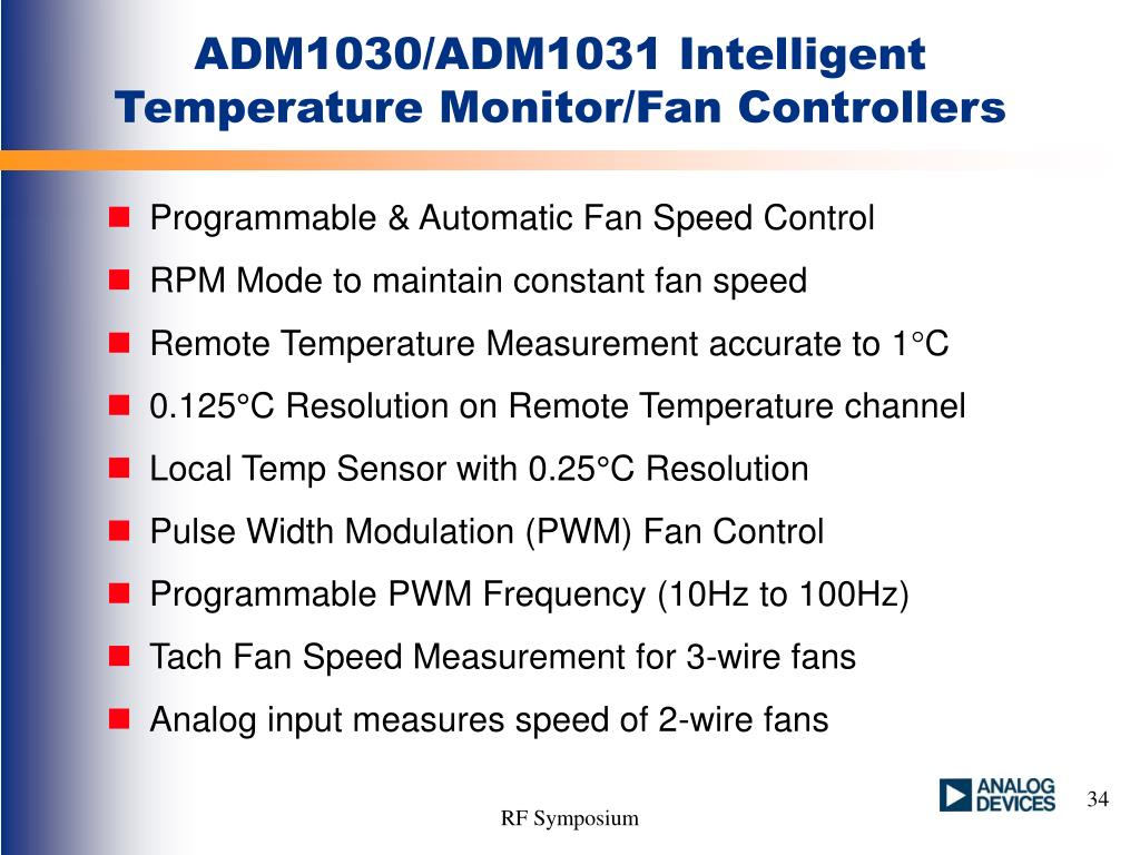 ADM1030/ADM1031 Intelligent Temperature Monitor/Fan Controllers