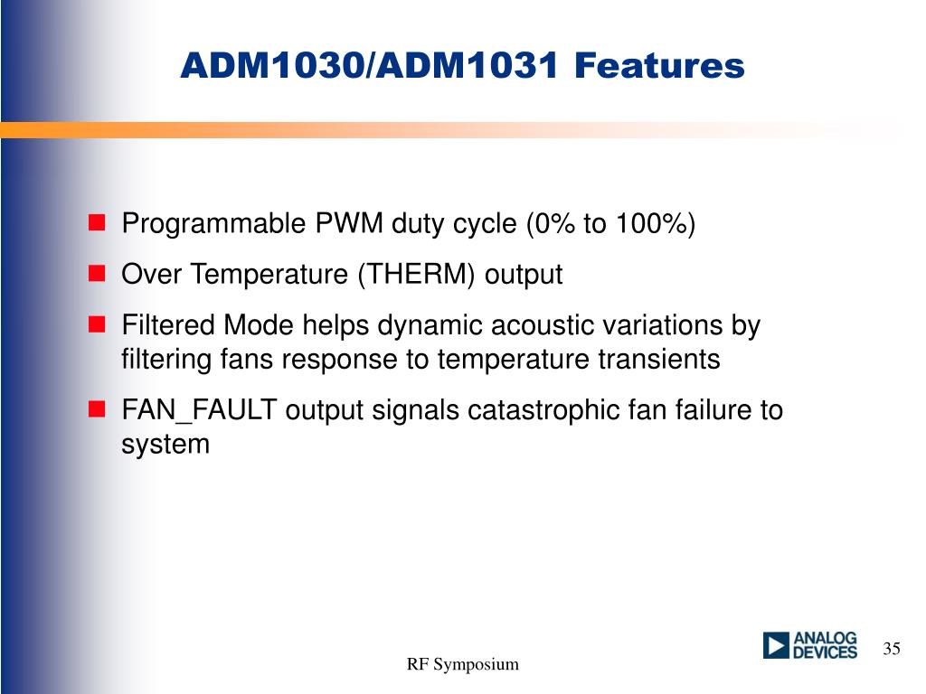 ADM1030/ADM1031 Features