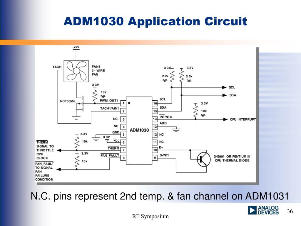 ADM1030 Application Circuit