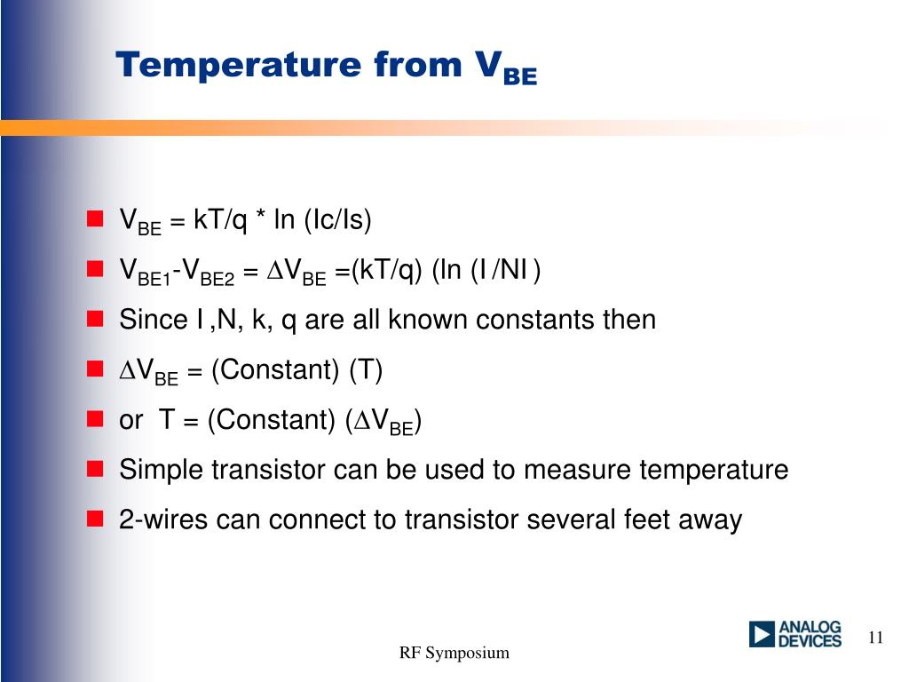 Temperature from V