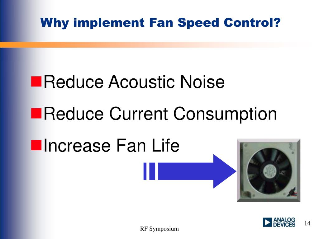 Why implement Fan Speed Control?